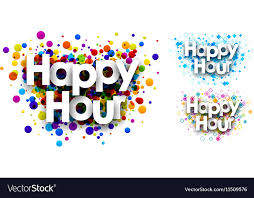 Colour Backgrounds Free Happy Hour Colour Backgrounds Royalty Free Vector Image
