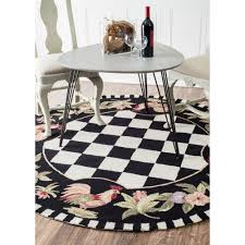Round Rooster Kitchen Rugs Black And White Rooster Kitchen Rugs Kitchen Room