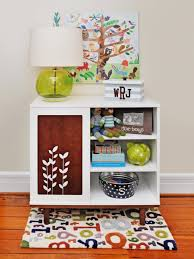 Shelving For Bedrooms Beautiful White Kids Room Shelf With Colorful Containers Also Red