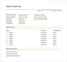 Qualified Team Meeting Agenda Template Example With Items And Other ...