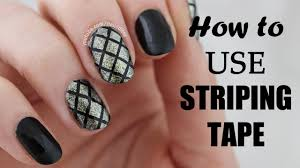 How To Use STRIPING TAPE In Nail Art | Nailed It NZ - YouTube