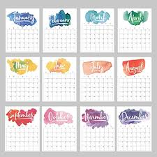 November 2020 Calendar Clip Art 2020 Wall Calendar Rainbow Watercolor Loose Leaf Monthly Planner 16 Loose Sheets Wall Prints Posters Goal Sheet Year At A Glance Birthday Chart