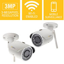 Q-SEE 3MP Wi-Fi Indoor/Outdoor Bullet Security Surveillance Camera with 16GB
