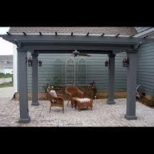 fiberglass square columns outdoor pergola kit column centers 12 x 12