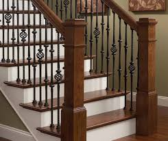 Stairs, Staircase Railings Stair Railing Ideas Solid Wood Newel Tall Black  Iron Balusters Wooden Handrail
