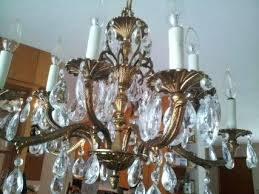 italian crystal spiral chandelier unique chandeliers vintage brass prism arm parts lighting