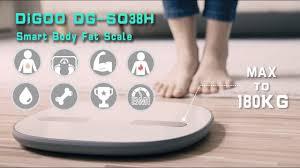 Digoo DG-SO38H <b>180Kg</b> Smart LED Bluetooth Large <b>Body Fat</b> ...