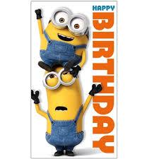 Minion Movie Happy Birthday Card Danilo