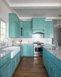 decoration dreamy turquoise kitchen cabinets diy