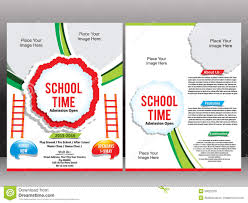 school admission flyer template stock vector image 50022258 school admission flyer template