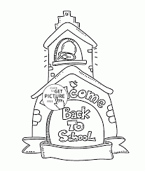 Small Picture Happy Back to School coloring page for kids school coloring pages
