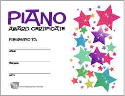 Piano Certificate Template Free Music Award Certificates Makingmusicfun Net