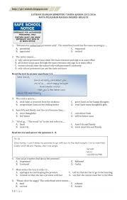 Soal ujian sekolah ips kelas 6 dan kunci jawaban. Soal Uas Ujian Akhir Semester Bahasa Inggris Kelas 9 Semester 1 Giri Widodo