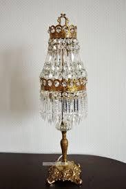 Alte Kristall Tischlampe Jugendstil Tischleuchter