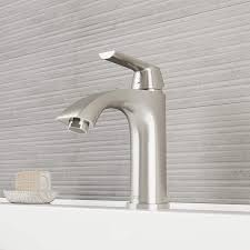 vigo vg01028bn penela 8 inch brushed nickel bathroom faucet single hole deck mount lavatory vanity faucet with seven layer plated finish com