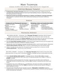 Massage Therapist Resume Sample Monster Com Therapy Business Plan