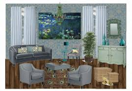 peacock inspired room. Brilliant Inspired Waterlily U0026 Peacock Inspired Living Room  For Room A