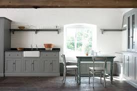 gray kitchen cabinets and walls. view in gallery unassuming kitchen with gray cabinets and a whitewashed brick wall [design: devol kitchens] walls