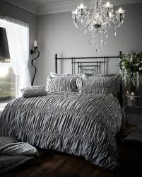 beauford fully elastic duvet set silver