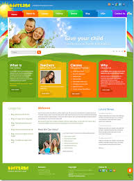 Templates For Education Kids Land Children Education Center Joomla Template On Behance