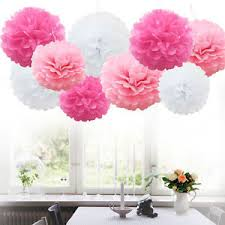 Party Decorations Tissue Paper Balls 100pcs Tissue Paper Pom Poms Flower Ball Baby Shower Birthday 69