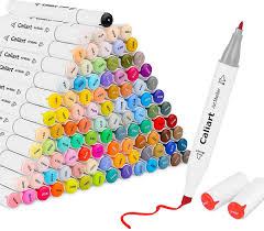Caliart Markers 100 Color Chart Details About Caliart 100 Colors Dual Tip Alcohol Based Art Markers Permanent Markers Twin