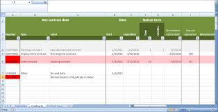 Contract Management Excel Template Contract Tracking Excel Template
