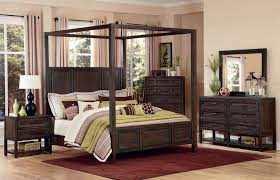 Bedroom: Black Canopy Bed Queen Be Equipped With Beige Wall And ...