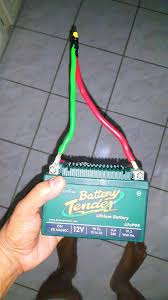picture of connection of the battery leads