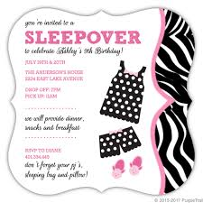 Polka Dot Invitations Polka Dot Pajamas Slumber Party Invitation