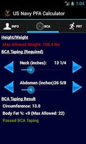 Navy Pfa Calc For Android Free Download And Software