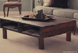 pallet furniture coffee table. diy rustic pallet coffee table via thewonderforest furniture