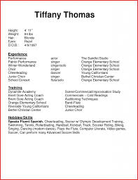 Acting Resume Template For Microsoft Word Best of Acting Resume Template Word Lcysne
