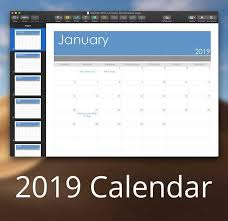 2019 Calendar Template For Pages Or Pdf