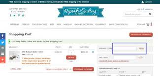40% Off Keepsake Quilting Coupon, Discount & Promo Codes- December ... & How To Use The Keepsake Quilting Coupon Code Adamdwight.com
