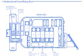 honda civic 1 6 l 1992 under hood fuse box block circuit breaker 92 civic fuel pump fuse at 92 Civic Fuse Box Diagram