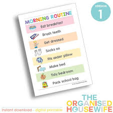 Kids Routine Charts Morning