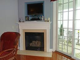 traditional corner fireplace design tv stand