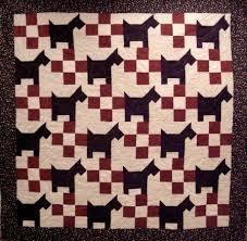 Dog Quilt Patterns Inspiration Scottie Dog Quilt Pattern QNS48 Intermediate Lap Bed