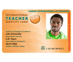 Teacher Travel Itic Card Sta