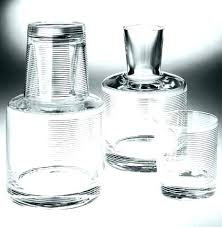 water decanter and glass set monogrammed glass carafe bedside water with for lid ounce anchor bedside