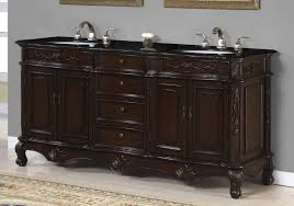 rustic double sink bathroom vanities. Rustic Bathroom Vanities With Tops Black Granite Double White Sink And Cute Taps Also V