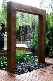 Outdoor Water Wall Fashionable Kits Waterfall How To Build An