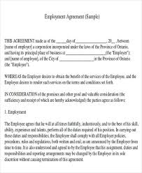 sample contract agreement job agreement contract sample 7 examples in word pdf