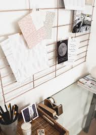 home office wall organizer. DIY Copper Office Wall Organizer - A Great Way To Create An Inspiration Board! | Home