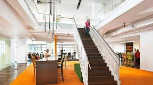 industrial style office. colorful office in atlanta shines with industrial style lighting 1 u201c