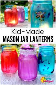 kid made mason jar lanterns