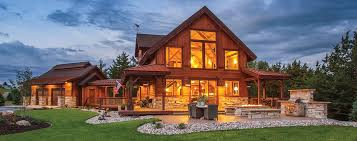 post and beam home exterior front example