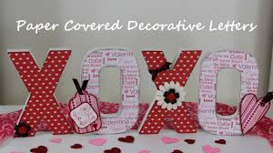 I Love You Crafts Hugs And Kisses Decorative Valentines Day Letters Tutorial
