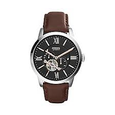 fossil watches men debenhams fossil men s townsman automatic leather watch me3061
